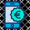 Euro Mobile Money Icon