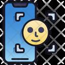 Mobile Face Scan Verification Face Icon