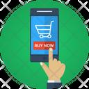 Mobile Finger Online Shoppimg Application Icon
