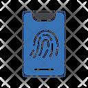 Biometric Fingerprint Scanning Icon