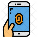 Finger Print Password Smartphone Icon