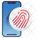 Mobile Fingerprint Scanner Icon