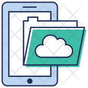Cloud Folder Mobile Data Online Data Icon