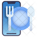 Mobile Food Application Icon