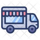 Mobile Food Cart Food Van Food Truck Icon