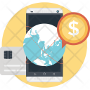 Mobile Marketing Globe Icon