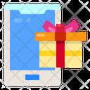 Gift Box Smart Phone Tecnology Icon