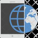 Mobile Globe Icon