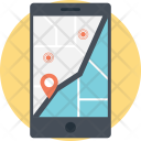 Mobile Navigation Routing Icon