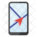 Mobile Gps Mobile Location Pinpointer Icon