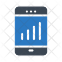 Mobile graph Icon