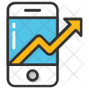 Mobile Graph Technology Icon