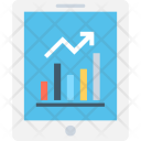 Graph Infographic Mobile Icon