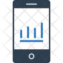 Mobile Graph Online Graph Business Icon