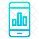 Mobile Graph Mobile Report Icon