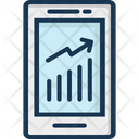 Online Graph Infographic Mobile Graph Icon