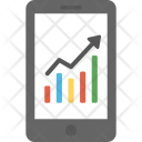 Mobile Growth Chart Icon