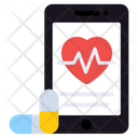 Online Medication Mobile Healthcare Online Consultation Icon