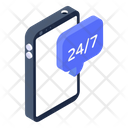 Customer Support Customer Services 24 Hours Services Icon