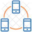 Mobile Hierarchy Mobile Connected Mobile Development Icon