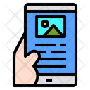 Mobile Hand Technology Icon
