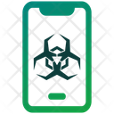 Mobile Infection Mobile Phone Icon