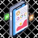 Mobile Analytics Mobile Graph Mobile Chart Icon
