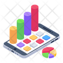 Online Analytics Mobile Analytics Mobile Statistics Icon