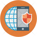 Mobile internet security Icon