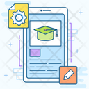 Mobile Learning Online Learning Educational App Icon
