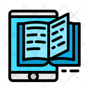 Mobile Learning Ebook Learning Icon