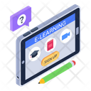 E Learning Online Education Mobile Education Icon