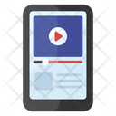 Mobile Lecture Video Learning Online Video Tutorials Icon