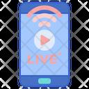 Mobile Live Stream Icon