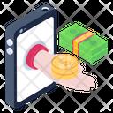 Online Loan Mobile Loan Mobile Debt Icon