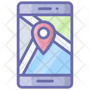 Mobile Location Online Location Navigation Icon