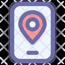 Smartphone Location Map Icon