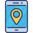 Mobile Location Maps Online Icon