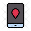 Mobile Location Map Icon