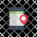 Mobile Location Online Icon