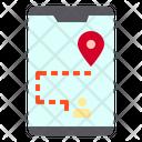 Smartphone Map Locatoin Icon