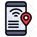 Mobile Location Tracking Map Icon