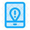 Mobile Location Warning Icon
