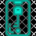 Mobile Key Lock Icon