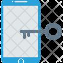 Mobile Lock Key Icon