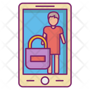 Secure Mobile Shopping Safe Icon