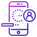 Mobile Login Interface Icon