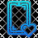 Mobile Love Icon