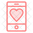 Mobile love Icon