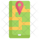 Cellphone Map Navigation Icon